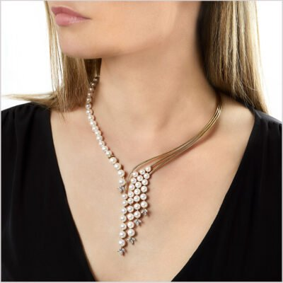 Yoko London Aurelia Diamond and Akoya Pearl Necklace