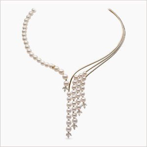 Yoko London Aurelia Diamond and Akoya Pearl Necklace