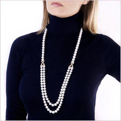 Yoko London Aurelia Diamond and Freshwater Pearl Necklace