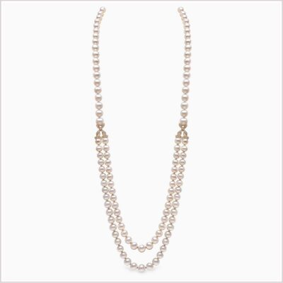 Yoko London Aurelia Diamond and Freshwater Pearl Necklace