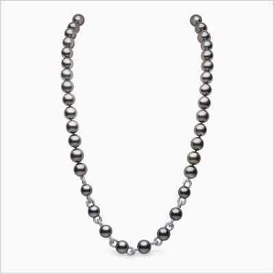 Yoko London Twilight Diamond and Tahitian Pearl Necklace
