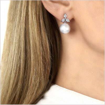 Yoko London Petal Diamond and South Sea Pearl Earrings