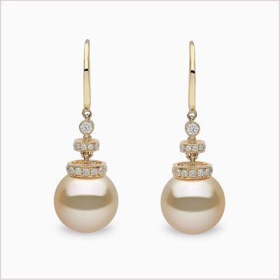 Yoko London Diamond and South Sea Pearl Earrings