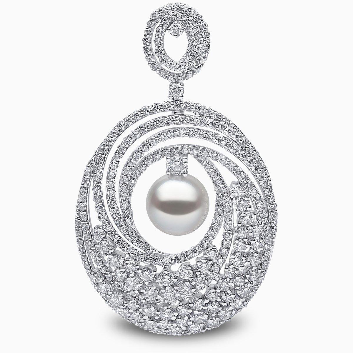 Yoko London Mayfair South Sea Pearl and Diamond Earrings
