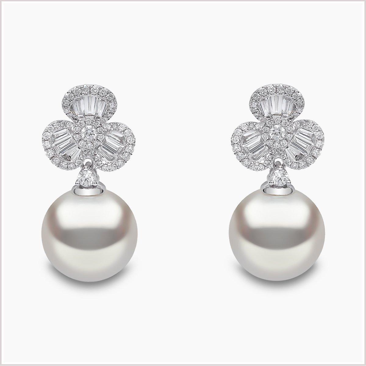 Yoko London Petal Diamond and South Sea Pearl Earrings