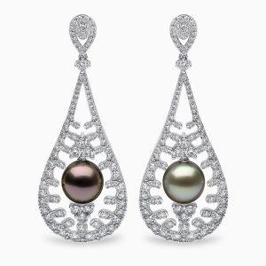 Yoko London Tropic Tahitian Pearl and Diamond Earrings