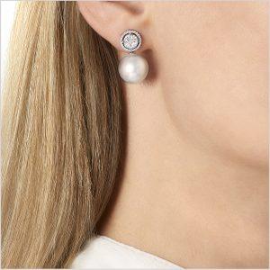 Yoko London Starlight South Sea Pearl and Diamond Earrings