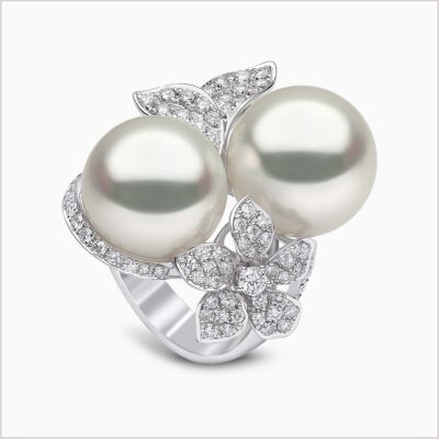 Yoko London Petal Diamond and South Sea Pearl Ring