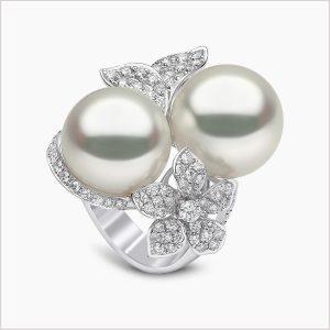 Yoko London Petal Diamond and South Sea Pearl Ring