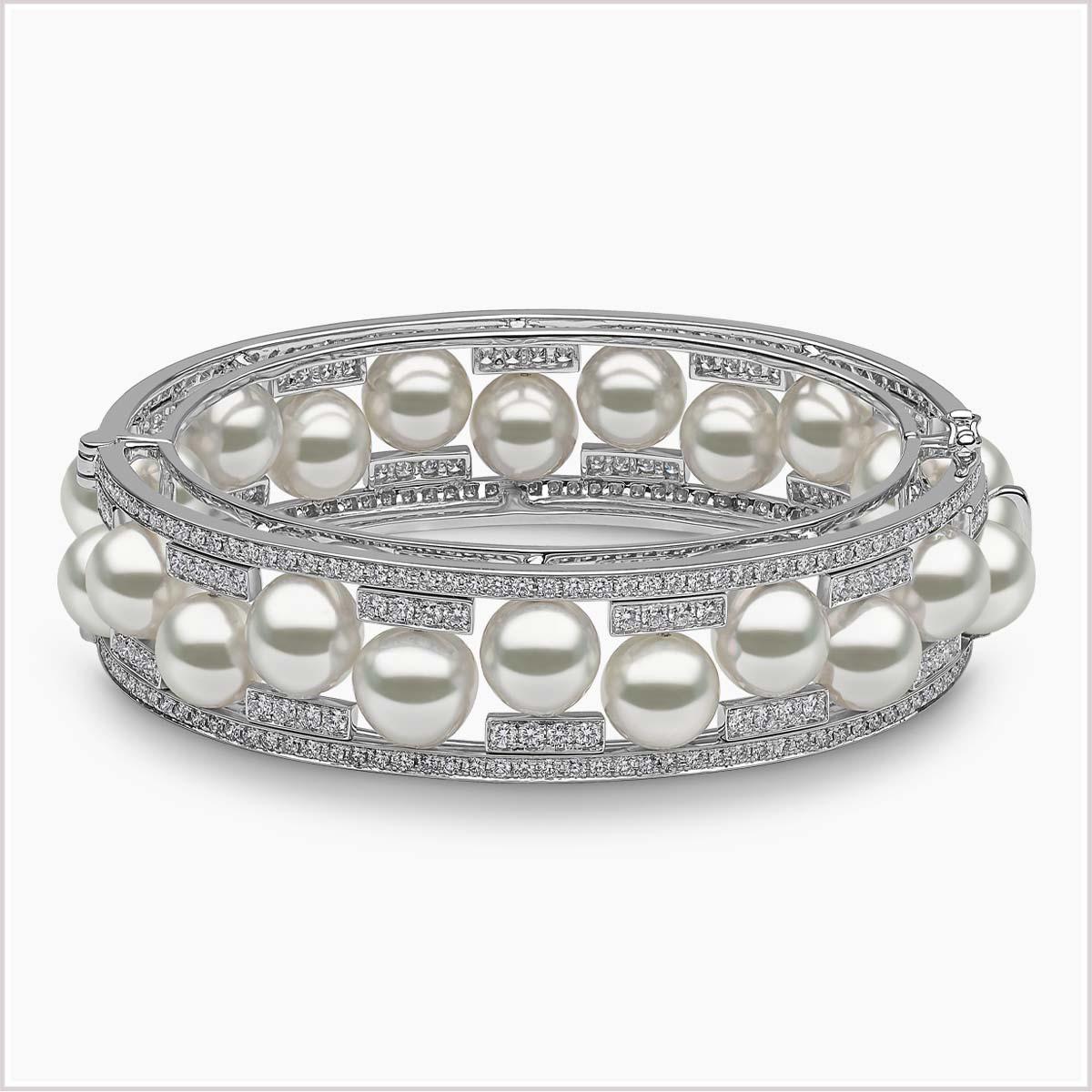 Yoko London Mayfair Diamond and South Sea Pearl Bracelet