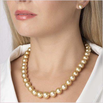 Yoko London Classic Golden South Sea Pearl Necklace