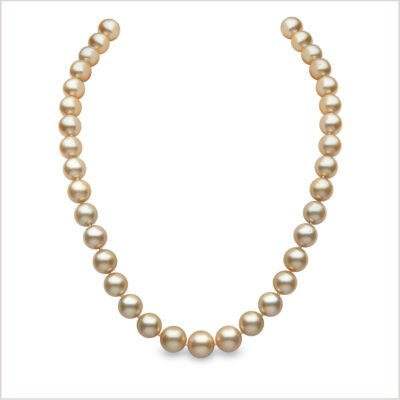 Yoko London Classic Golden South Sea Pearl Necklace