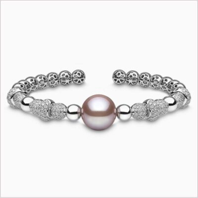 Yoko Radiant Orchid Diamond and Pink Freshwater Pearl Bracelet