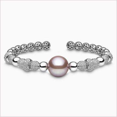 Yoko Radiant Orchid Diamond and Pink Freshwater Pearl Bracelet