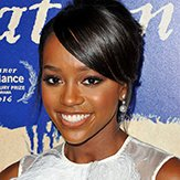 Aja Naomi King wears Yoko London