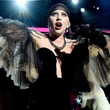 Lady Gaga wears Yoko London pearls
