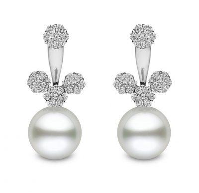 Yoko London Novus Diamond and South Sea Pearl Ear Jackets