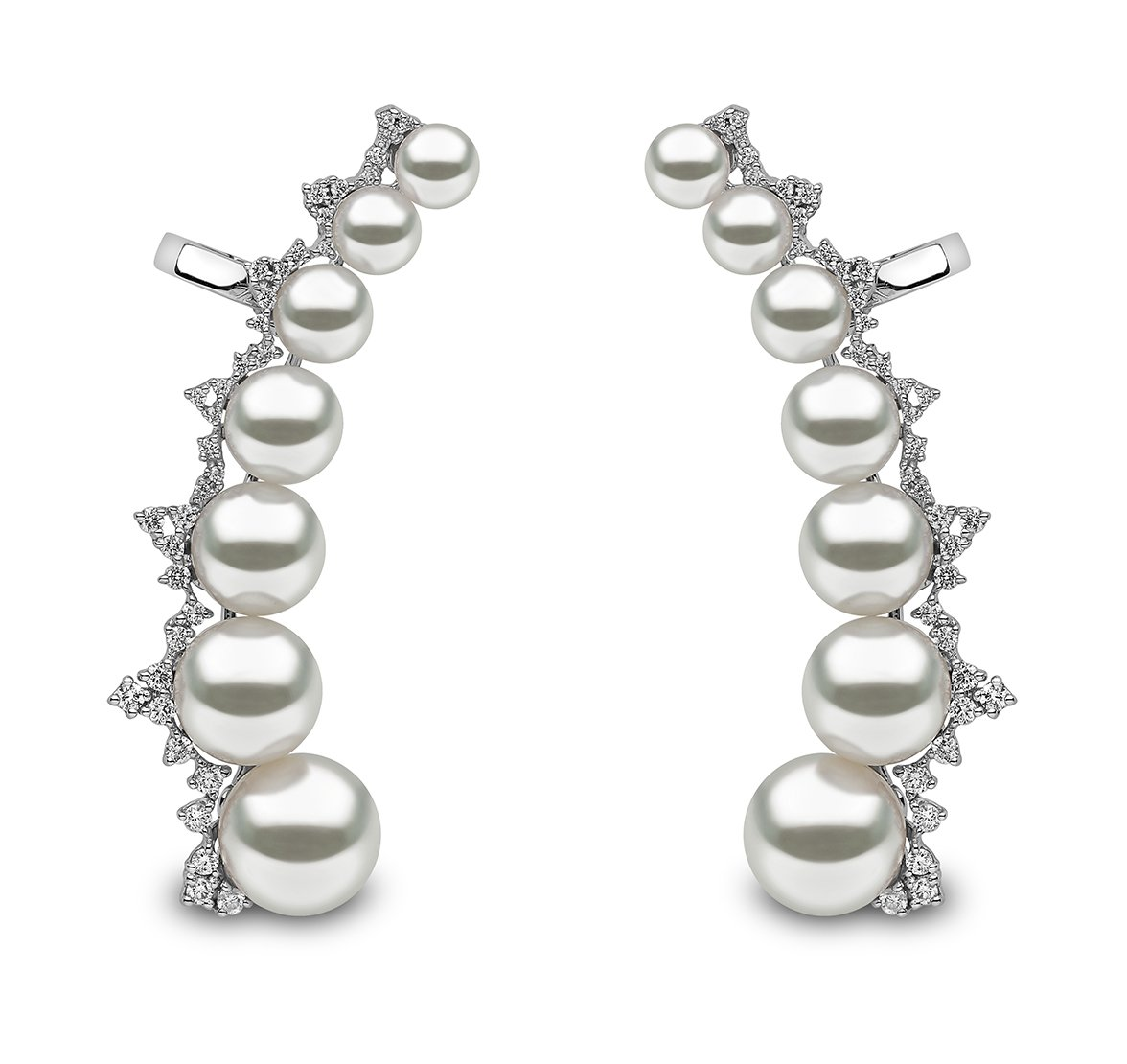 Yoko London Novus Pearl Ear Cuffs