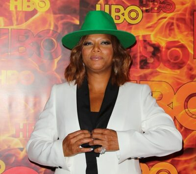 Queen Latifah wears Yoko London pearls
