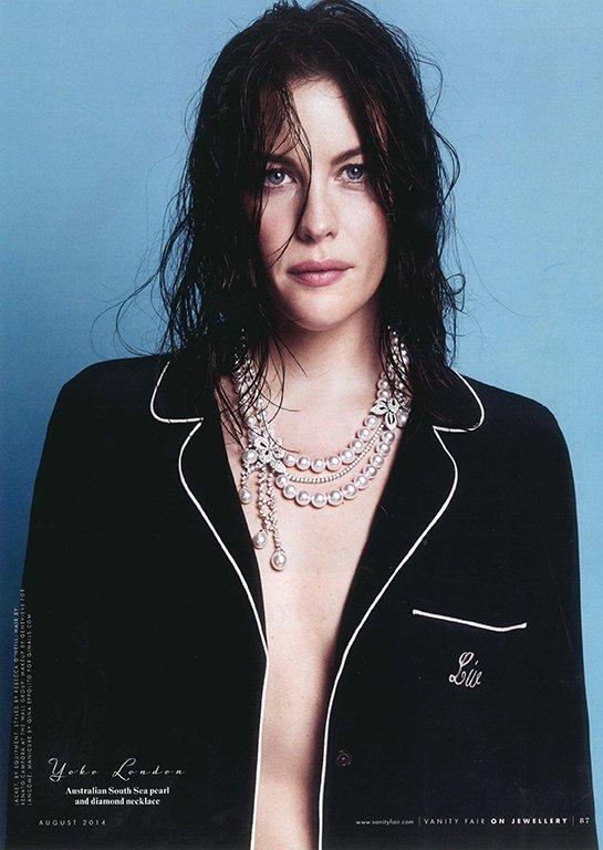 Liv Tyler Wears Yoko London Pearls