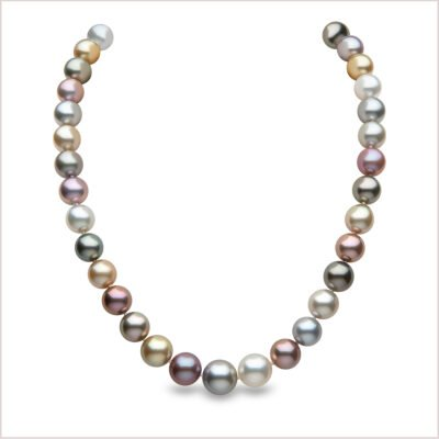 Classic South Sea Pearl, Tahitian Pearl and Freshwater Pearl Necklace