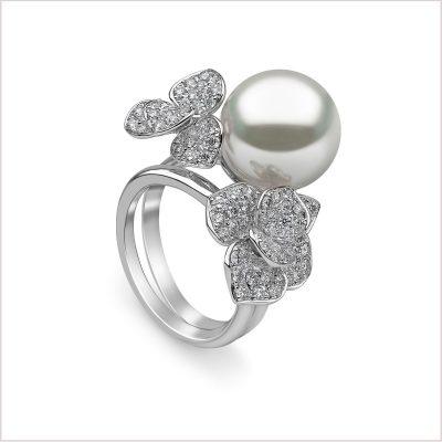 Petal South Sea Pearl and Diamond Ring