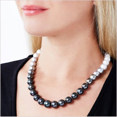Yoko London Ombré Tahitian and South Sea Pearl Necklace