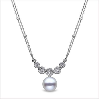Yoko London Mayfair Diamond and South Sea Pearl Pendant