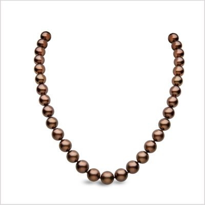 Yoko London Classic Chocolate Coloured Tahitian Pearl Necklace