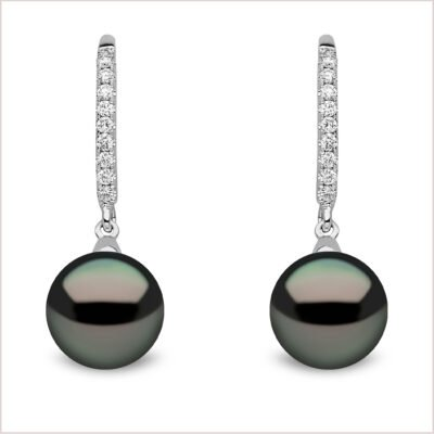 Yoko London Classic Tahitian Pearl and Diamond Earrings