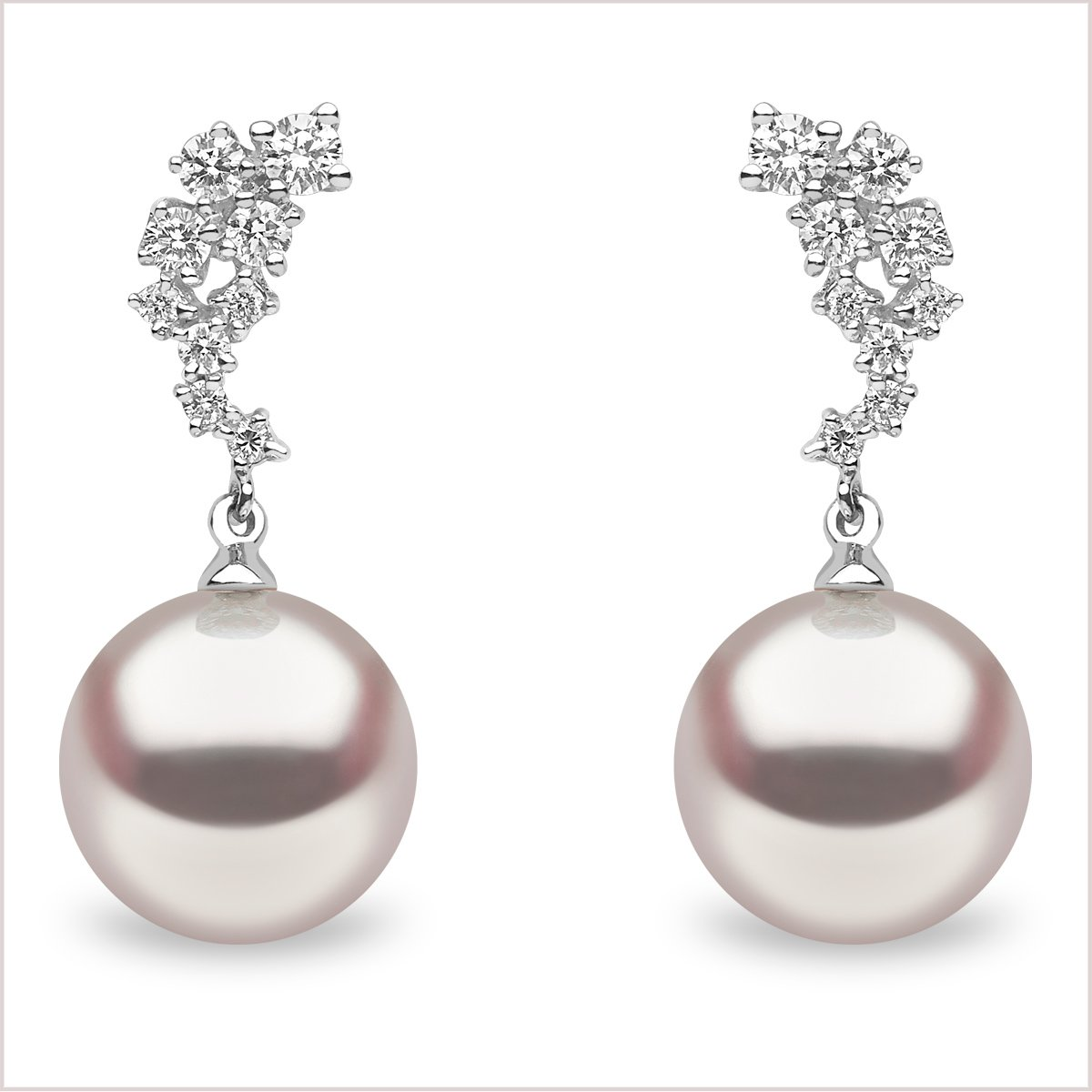 Yoko London Classic South Sea Pearl and Diamond Earrings