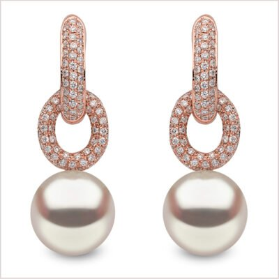Yoko London Novus South Sea Pearl and Diamond Earrings