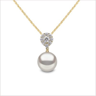 Yoko London Classic Freshwater Pearl and Diamond Pendant