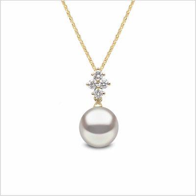 Yoko London Classic Freshwater Pearl and Diamond Pendant