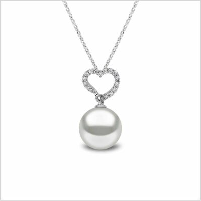 Yoko London Classic South Sea Pearl and Diamond Pendant