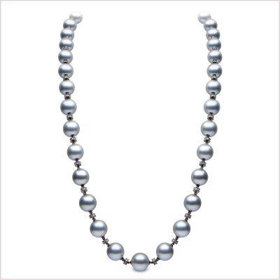 Yoko London Novus Diamond and Tahitian Pearl Necklace