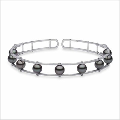 Yoko London Novus Diamond and Tahitian Pearl Choker Necklace