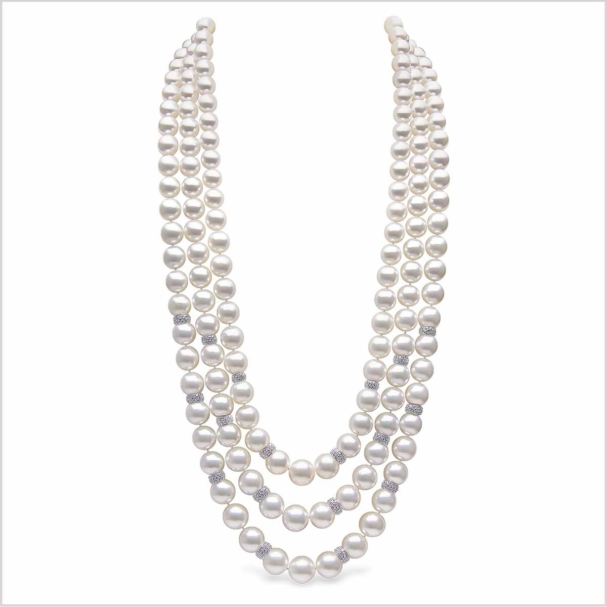 Yoko London Mayfair Diamond and Pearl Necklace