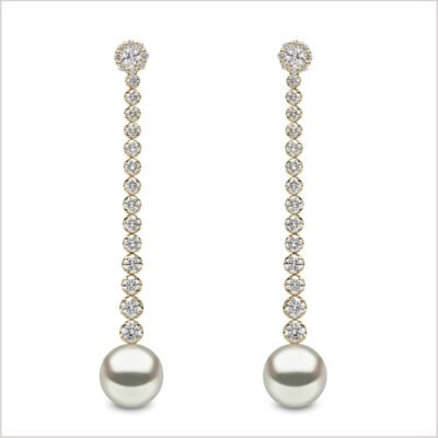 Yoko London Aurelia Diamond and South Sea Pearl Earrings