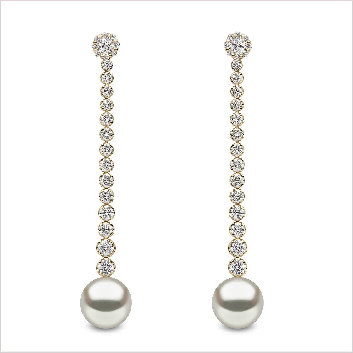 Yoko London Aurelia Diamond and South Sea Pearl Earrings