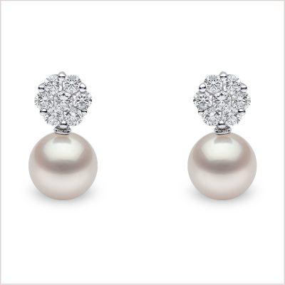 Yoko London Classic Freshwater Pearl and Diamond Earrings