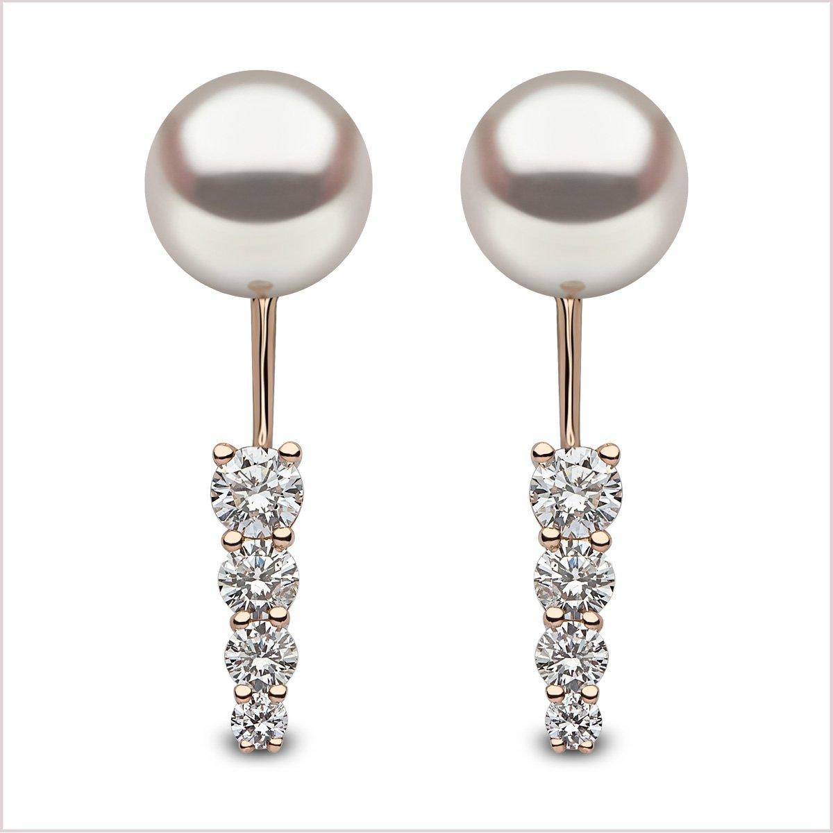 Yoko London Novus Diamond & Akoya Pearl Ear Jackets