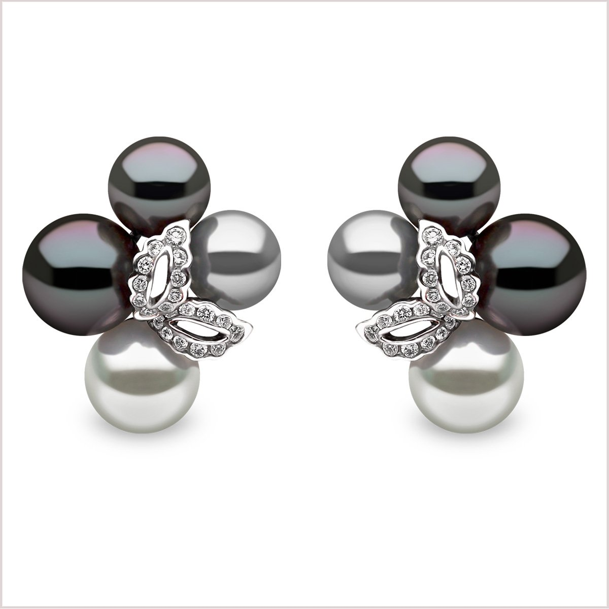 Yoko London Twilight Diamond, South Sea and Tahitian Pearl Earrings
