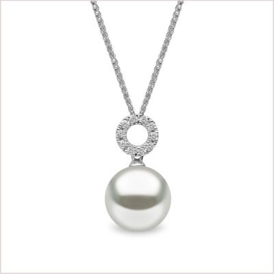 Yoko London Classic Diamond & Freshwater Pearl Pendant