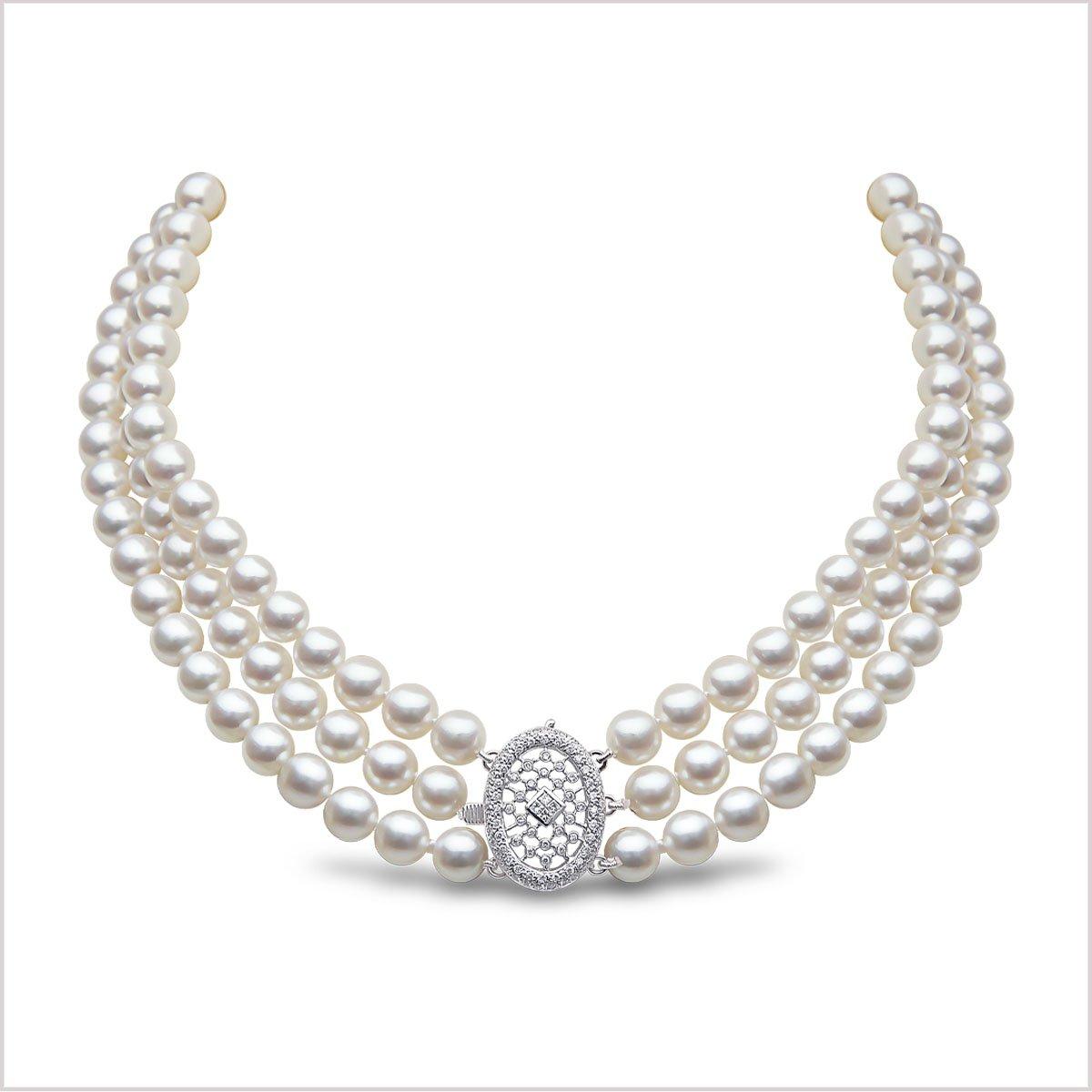 Yoko London Classic Akoya Pearl and Diamond Necklace