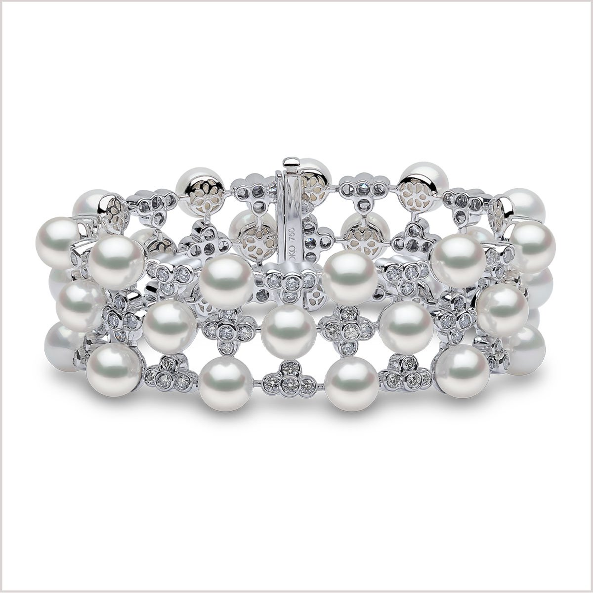 Yoko London Raindrop Diamond and Akoya Pearl Bracelet