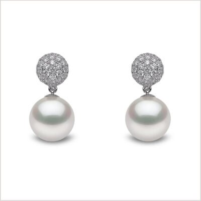 Yoko London Mayfair South Sea Pearl and Diamond Earrings