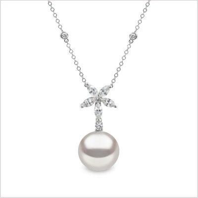 Yoko London Petal South Sea Pearl & Diamond Pendant