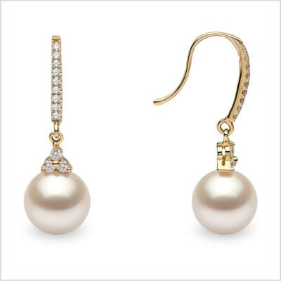 Yoko London Freshwater Pearl and Diamond Earrings