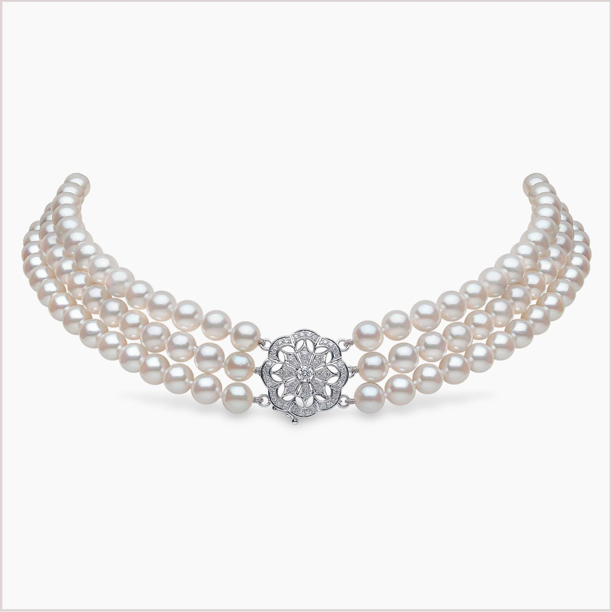Yoko London Classic Akoya Pearl and Diamond Necklace